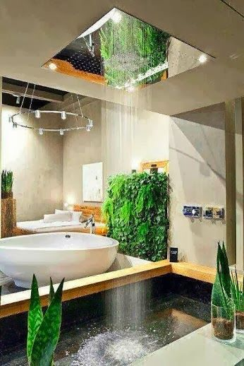 Perfectly engineered bathroom ideas......This bathroom design is one of our very favorite, I'm not sure I would ever step out of the bathtub. #BathroomDesign #BathroomIdeas #BathroomRemodel