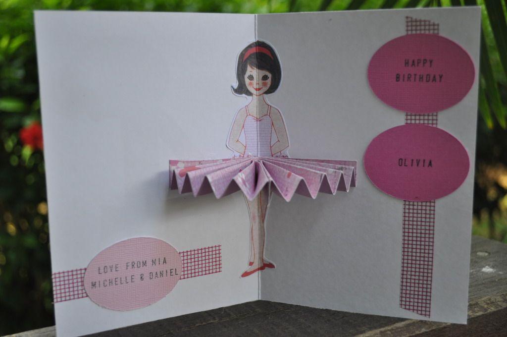 Ballerina Pop up Card
