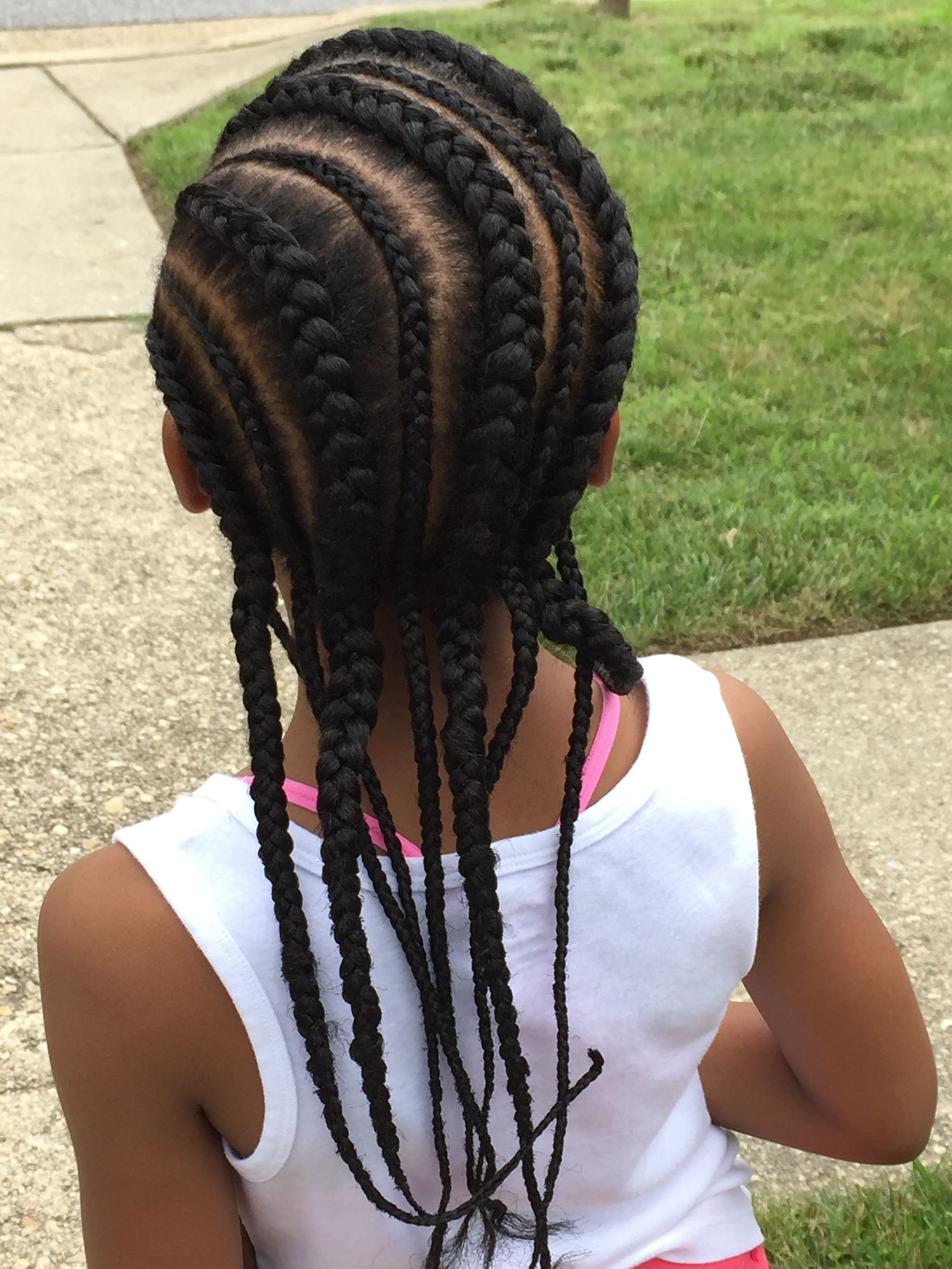 Straight Back Cornrows | Hair styles, Braids hairstyles pictures, Natural hair styles