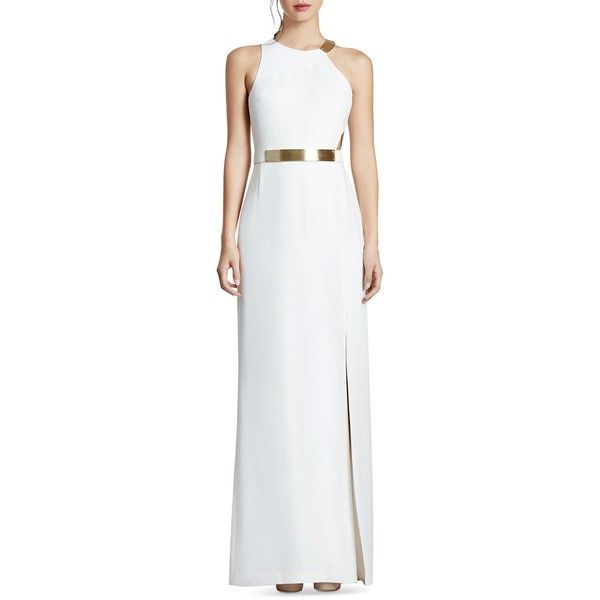 Halston Heritage Cutout Gown ($620) ❤ liked on Polyvore featuring ...