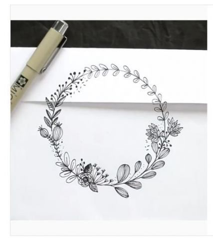 Photo of 49+ Ideas flowers wreath drawing illustration for 2019