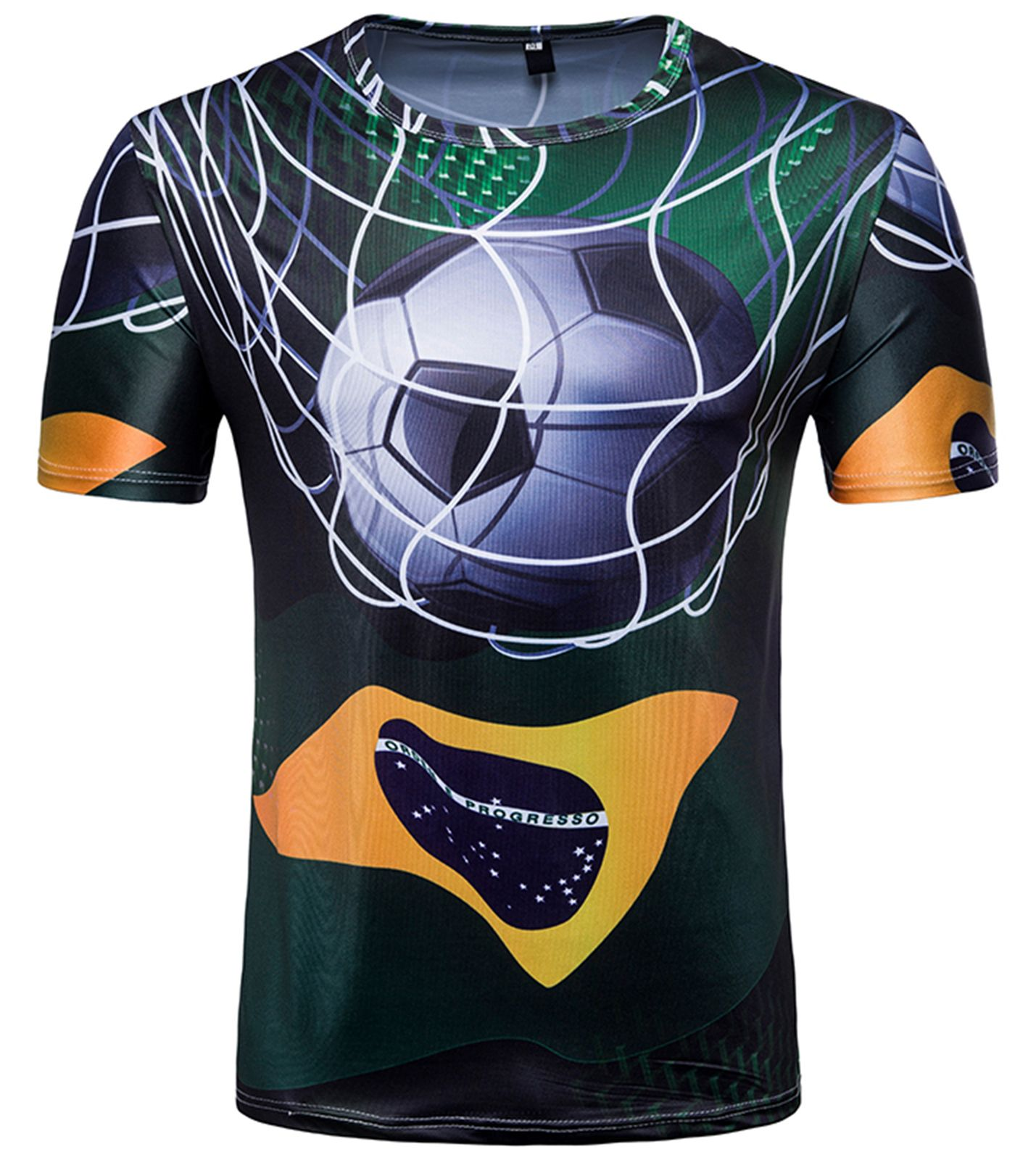 be7a0b18527 Pizoff 2018 FIFA World Cup Hipster Brazil 3D Print Originality T ...