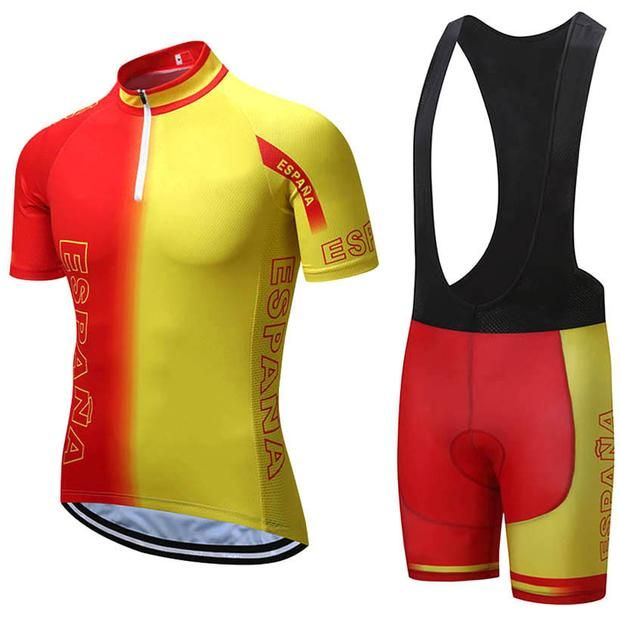 2017 SPAIN Team Pro Cycling Jersey Sets  8e80ce9be