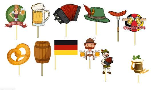 12 Oktoberfest Octoberfest Party Cupcake Toppers /Food Picks/Theme Party Queen #octoberfestfood