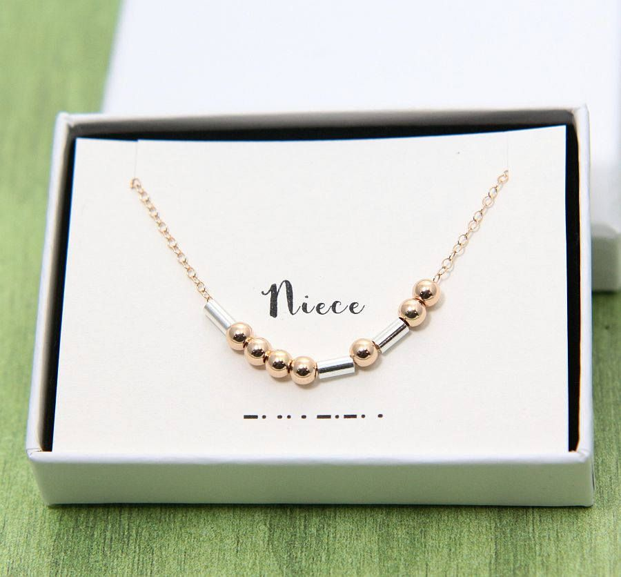 Niece Necklace Morse Code Gift For Birthday Custom
