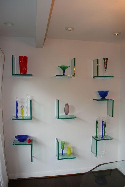 Glass Shelves Decor, Floating Glass Shelves Living Room
