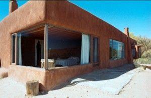 Georgia O'Keeffe's studio in, Abiquiu, NM - A great combination of southwestern adobe and 1940s modernism.