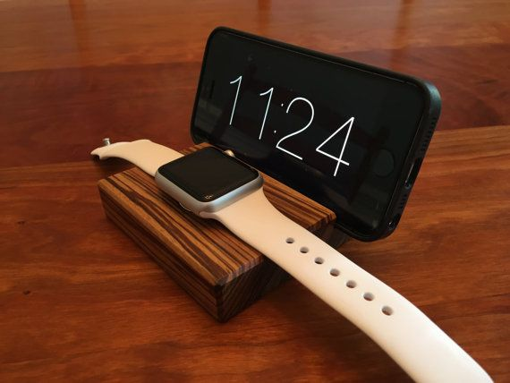 Apple Watch and iPhone 6 Docking Station - Charger - Zebrawood - Handmade