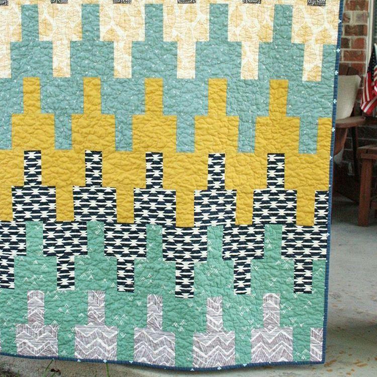 #aztecchevronpattern #babyquilt #boundfabrics #wandererfabric #arizonafabrics