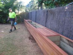 well constructed planter box seating -   23 deck garden boxes
