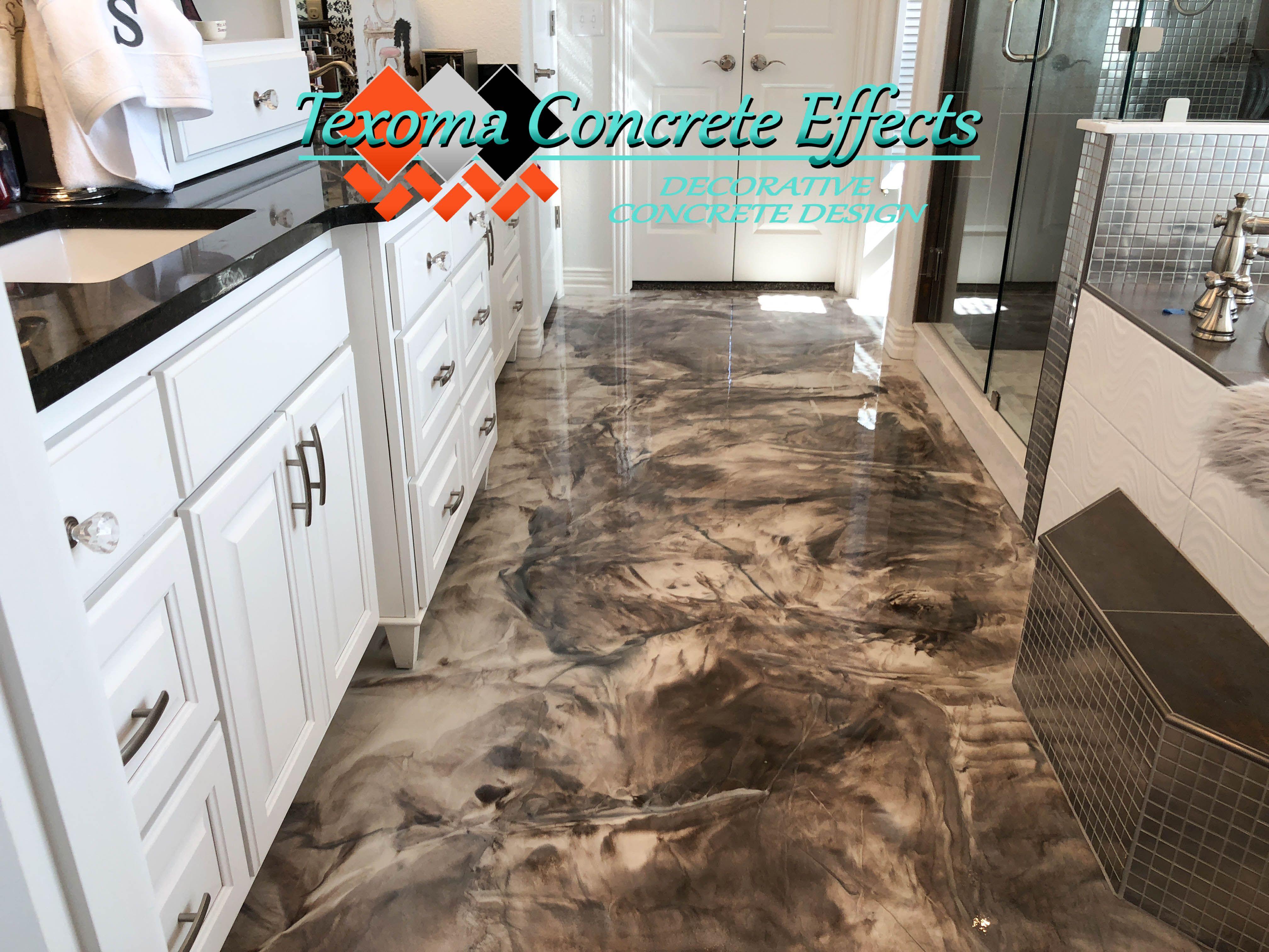 Metallic Epoxy Floor Matte Finish By Texoma Concrete Effects Iowa Park Tx Metallic Epoxy Floor Epoxy Floor Iowa Park