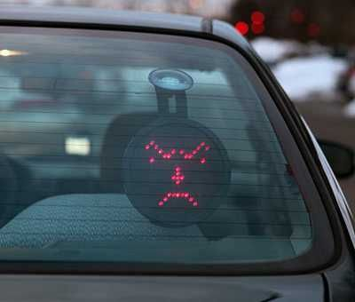 Drivemocion LED Car Sign Tells Tailgaters To Hightail It