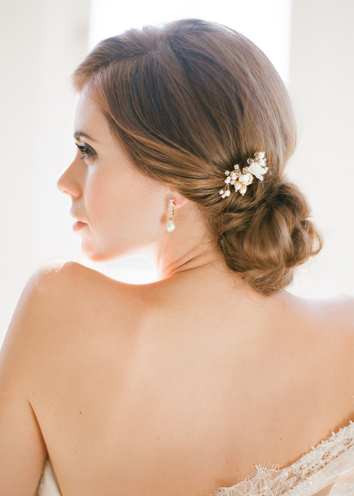 mignon | pearl bridal hair pin | wedding | pinterest | bridal hair