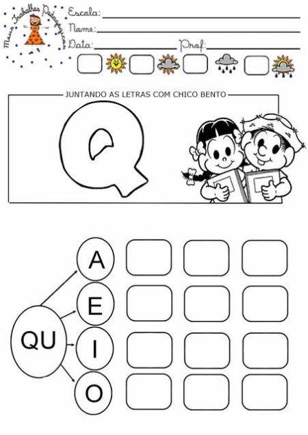 Atividades Silabicas Letra Q Para Alfabetizar Atividades Com A