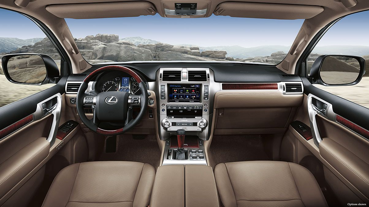 Interior shot of the 2018 Lexus GX 460 shown with Sepia