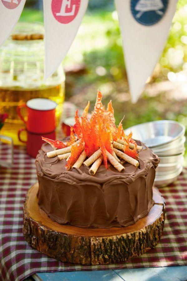 21 Sizzling Summer Birthday Cake Ideas Campfire Cake Fall