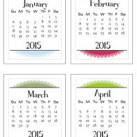 3×4 Project Life 2015 calendar (Sunday to Saturday or Monday to Sunday – you choose!) | scrappystickyinkymess