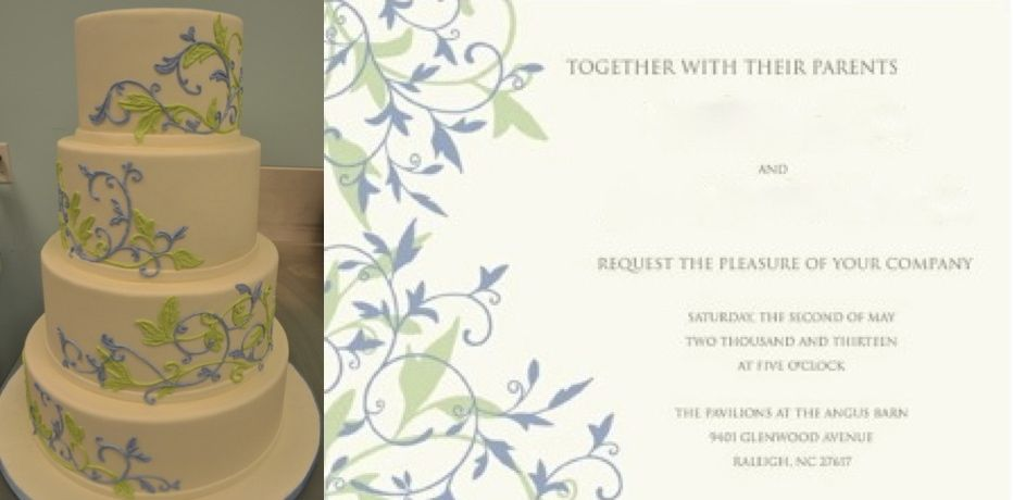 Designing a Wedding Cake with Personality-Sugarland Cake to Match Your Invitations