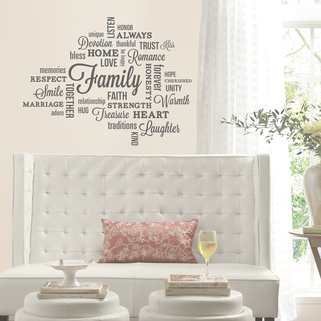 Wall Stickers Living Room Decor Quotes Home Decor Family Wall