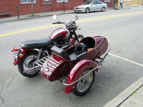 Triumph Bonneville Bike With Sidecar Sidecar Bicycle Sidecar