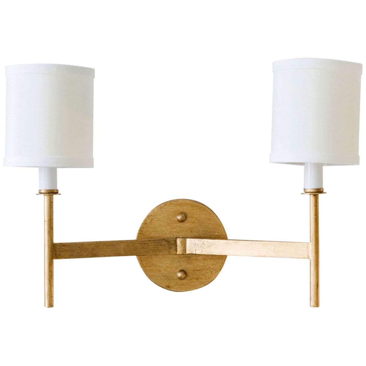 Worlds Away 2 Arm Wall Sconce With Cream Shades Randolph G Sconces Wall Sconce Lighting Wall Sconce Shade