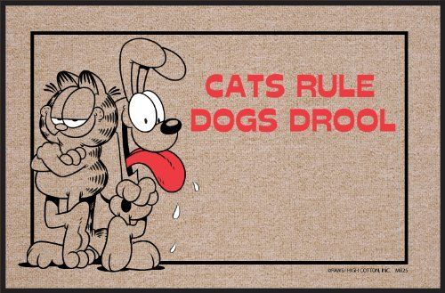 High Cotton Cats Rule Garfield Doormat By High Cotton Inc