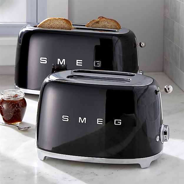 Smeg Black Retro Toasters Crate And Barrel Retro