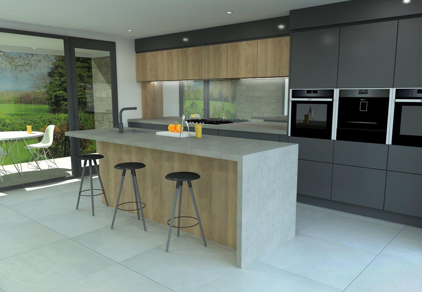 Exceptional Saffron Interiors   Fusion Kitchen True Handle Less (tip On) Doors.