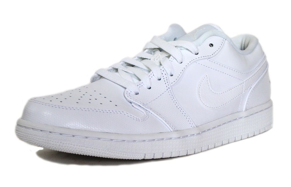 2f961125edee86 Nike Men s Air Jordan Retro 1 Low Basketball Shoes 553558 102 White  Nike   BasketballSneakers