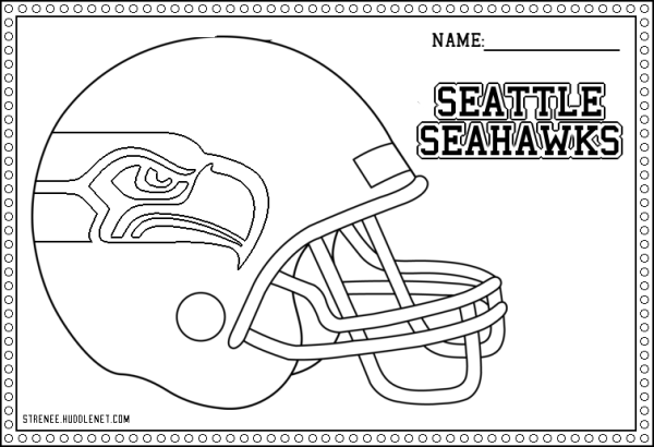 Seattle Seahawks: Free Coloring Pages | Superfun Bowl ...