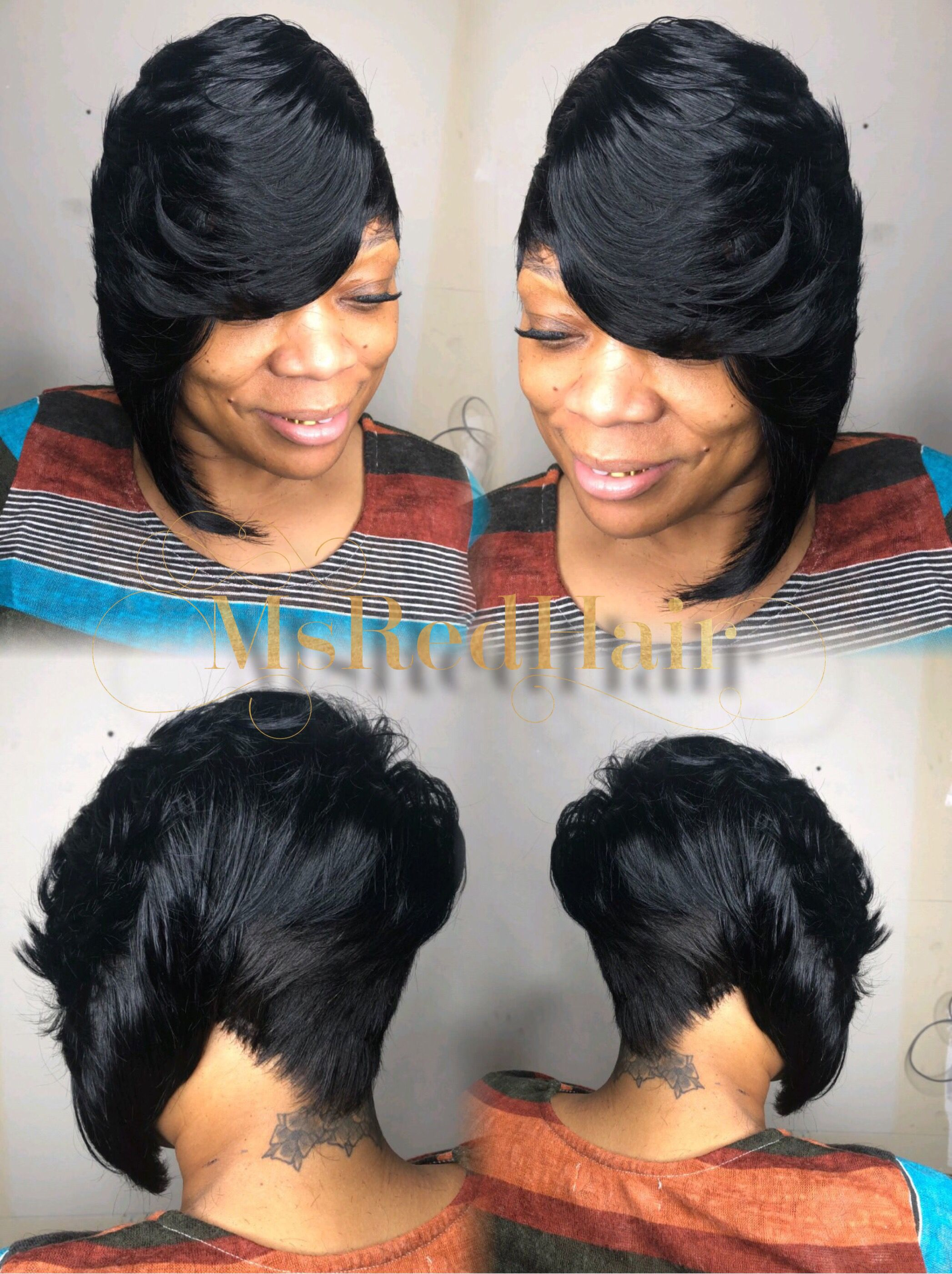 One Sided Bob Quick Weave Quick Weave Hairstyles Weave Hairstyles Hair Styles
