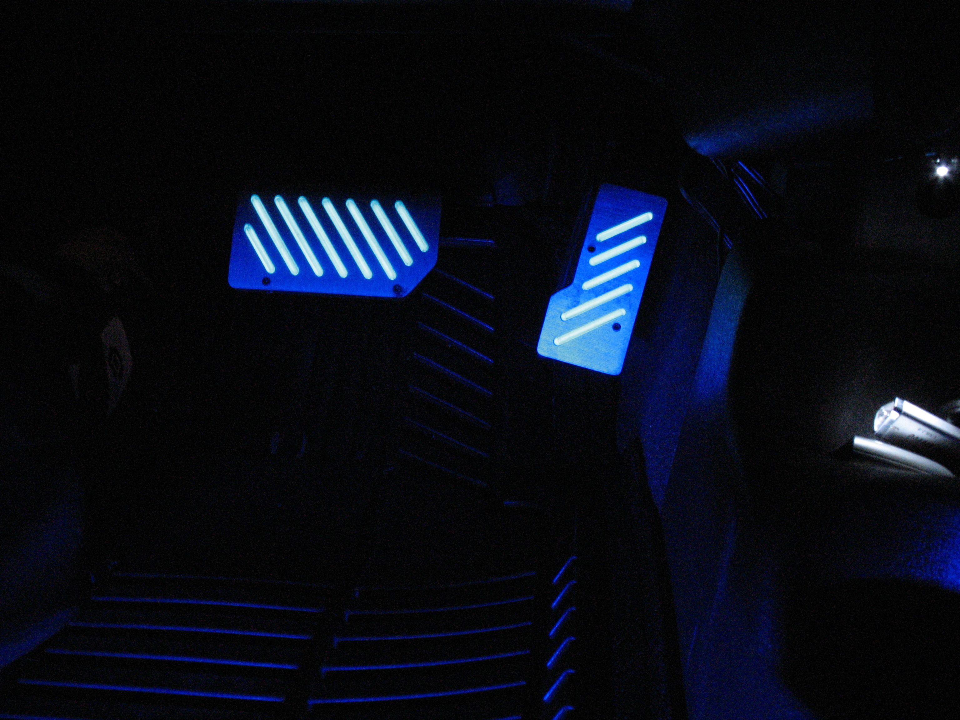 Led Light Strips On Car Pedal Set Led Vehicle Lighting
