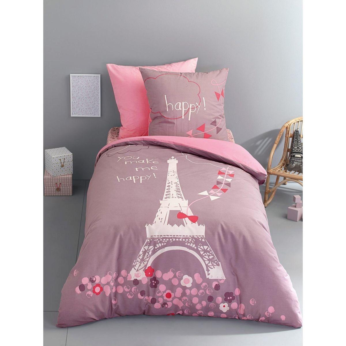 Drap Housse Enfant Une Nuit A Paris Taille 90x140cm
