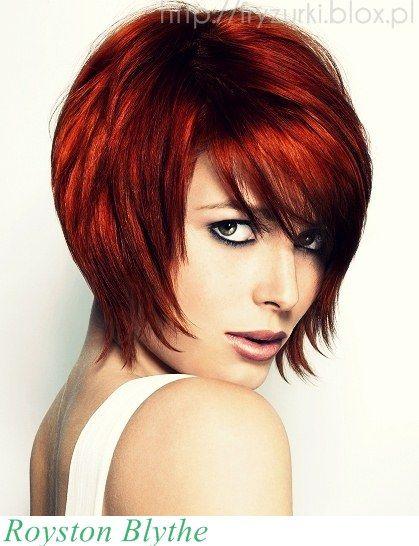 Fryzura Dnia Krótkie średnie Rude Włosy Hair Hair