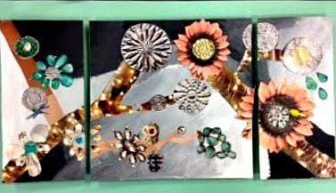 Room 9: Art!: Mixed-Media Triptychs Have Visual Movement!