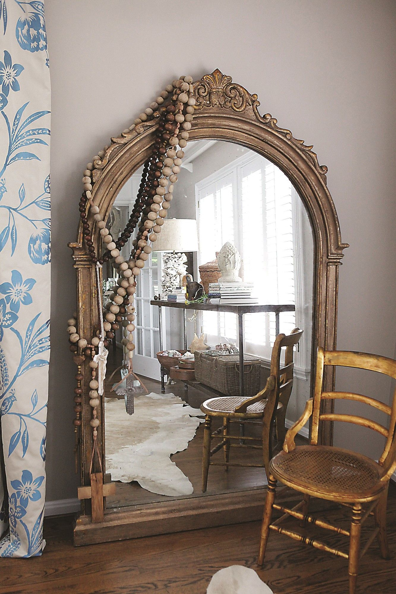 large chateau floor ideas floors home pinterest mirror gold pin