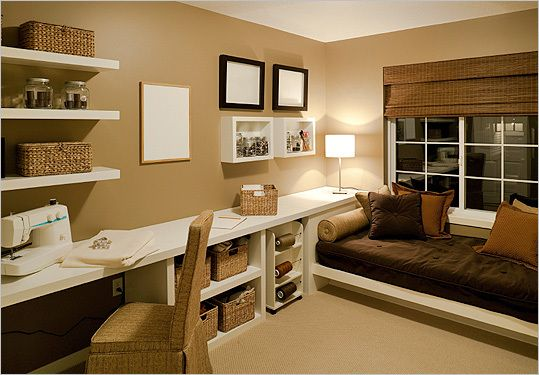 10 Ways To Update Your Home Without Breaking The Bank Guest Bedroom Office Guest Room Office Home Office Design
