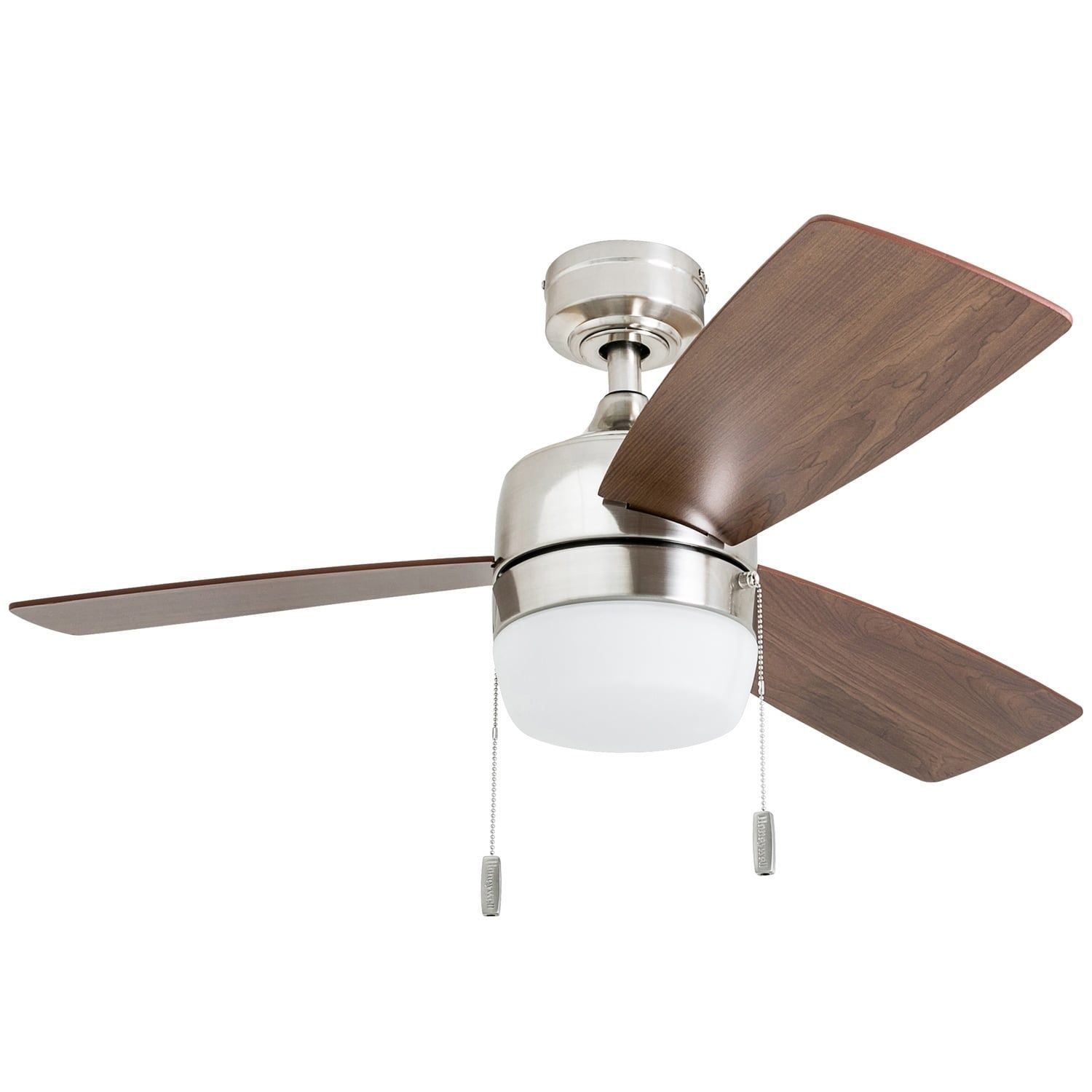 Honeywell Barcadero Modern Brushed Nickel Led Ceiling Fan With