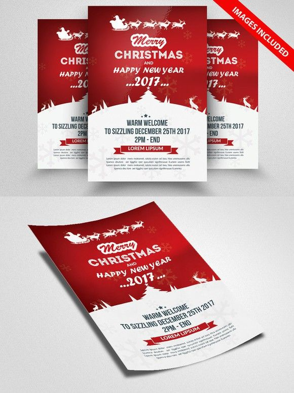 Christmas Event Flyer Template | Event Flyer Templates, Event