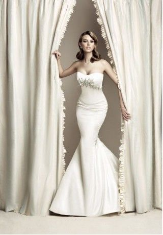 Satin Strapless Sweetheart Mermaid Simple Wedding Dress   Who Framed ...