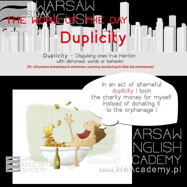 Duplicity tłumaczenie po polsku. Angielski nauka online