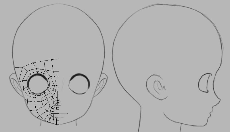Another 3d Head Reference File By Athey On Deviantart Character Design Anime Head Character Design References