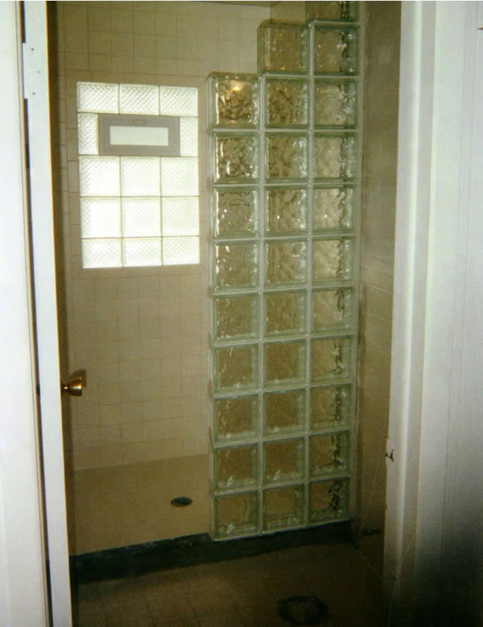 Glass Block Showers Metro Glass Block Bars Showers And Walls Glass Block Ideas
