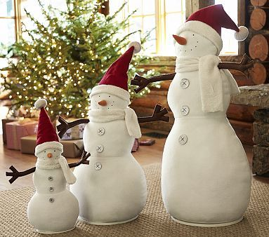 Discontinued Pottery Barn Christmas Stockings Snowman