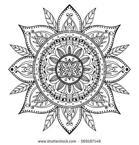 Coloring Page Beautiful Mandala Mandala Coloring Mandala Drawing Coloring Pages