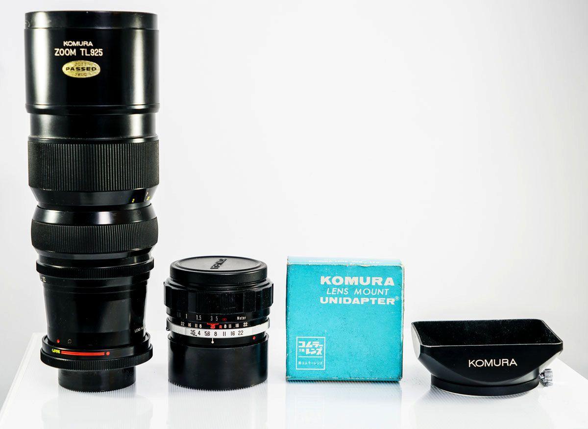 The W Komura 28mm F 3 5 Wide Angle Prime Lens Komura 90 250 F4 5 Zoom Lens Bundled With Komura To 42mm Unidapter Photo In 2020 Zoom Lens Prime Lens Vintage Cameras