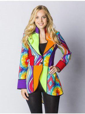 Jacke Jacke DamenDeiters Frauen Frauen Kostüm Kostüm Jacke Regenbogen Regenbogen DamenDeiters J3TlcFK1