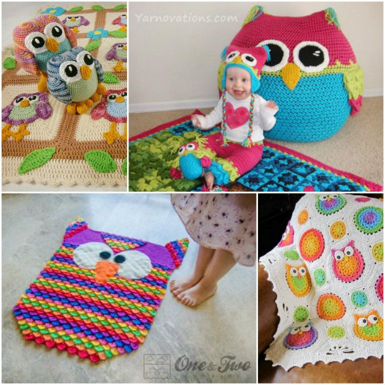 Decorate your room with these fabulous Crochet Owl projects! Get all the Patterns now.
