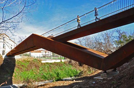 corten steel bridge...so cool!