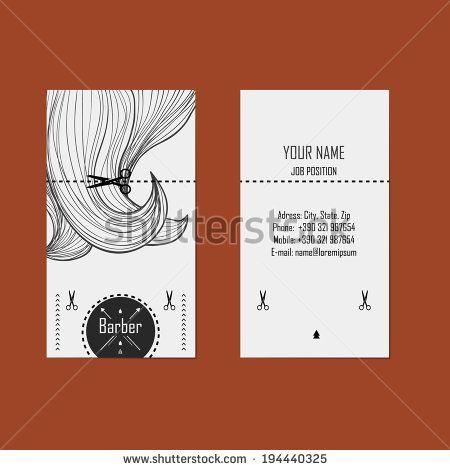 Alternative Design Business Cards For Hairdresser Barber Stock Vector Hairdresser Business Cards Hairstylist Business Cards Barber Business Cards
